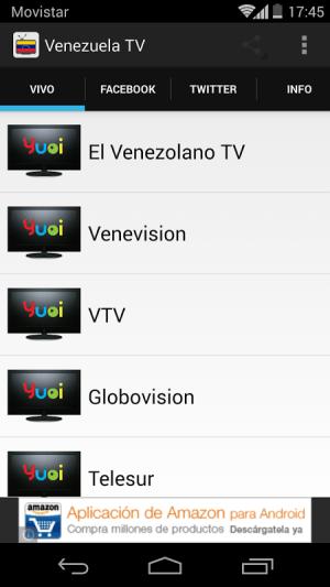 Android Venezuela Television Screen 2
