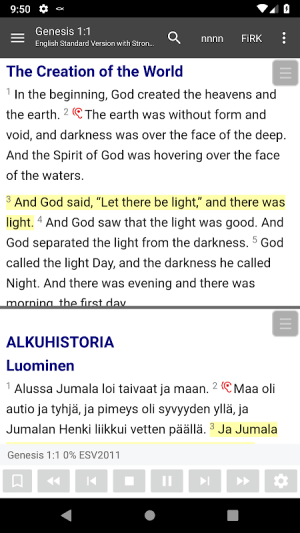 Android Bible Study app, by And Bible Open Source Project Screen 4
