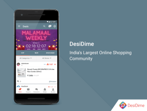 DesiDime - Online Deals & Coupons 3.1.9 Screen 1