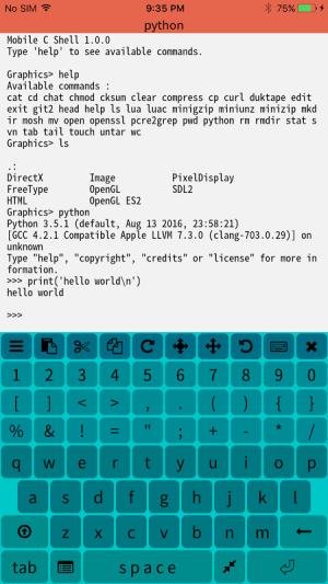 Mobile C ( C/C++ Compiler ) 2.2.5 Screen 3