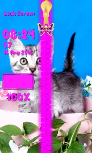 Kitty Zipper Lock Screen 1.2 Screen 5