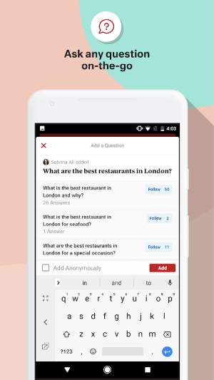 Quora 2.7.5 Screen 2
