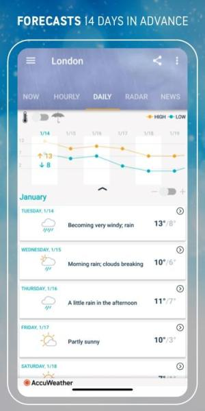 AccuWeather Winter weather alerts & local forecast 6.1.6-free Screen 1
