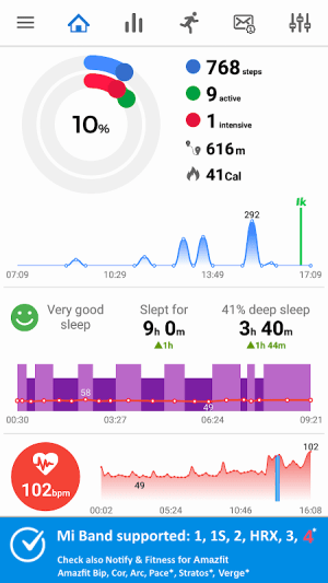 Android Notify & Fitness for Mi Band Screen 7