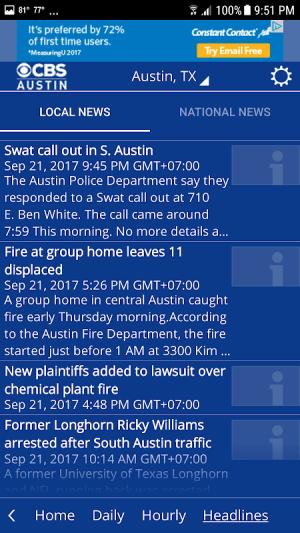 CBS Austin WX 5.3.501 Screen 3