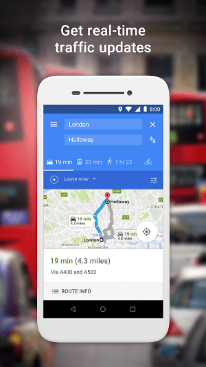 Google Maps Go - Directions, Traffic & Transit 82 Screen 1