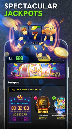 Android 888 Casino: Slots, Live Roulette & Blackjack Games Screen 3