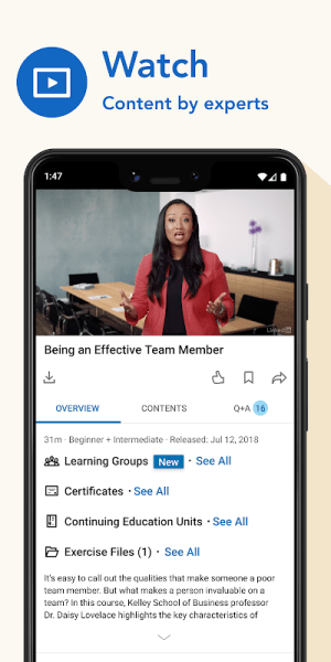LinkedIn Learning: Online Courses to Learn Skills 0.150.0 Screen 11