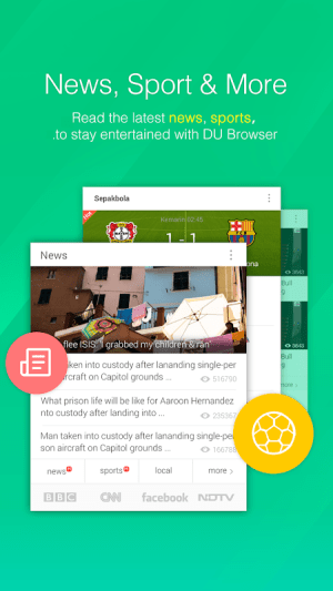 Android DU Browser—Browse fast & fun Screen 1