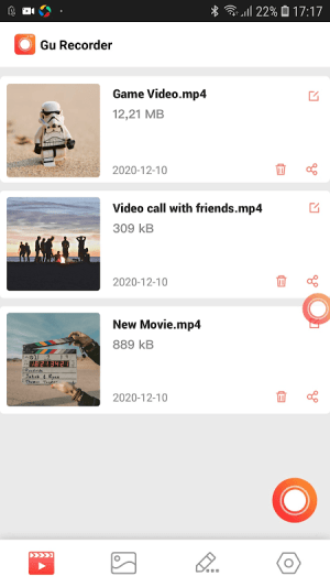 Android GU Screen Recorder with Sound, Clear Screenshot Screen 4