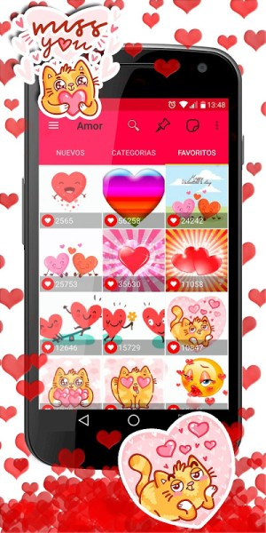 Android 💕😍 WAStickerApps love stickers for whatsapp Screen 1