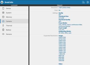 Droid Hardware Info 1.2.2 Screen 2