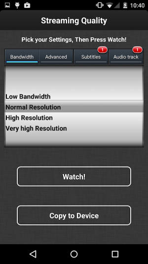 Android VLC Streamer Free Screen 9