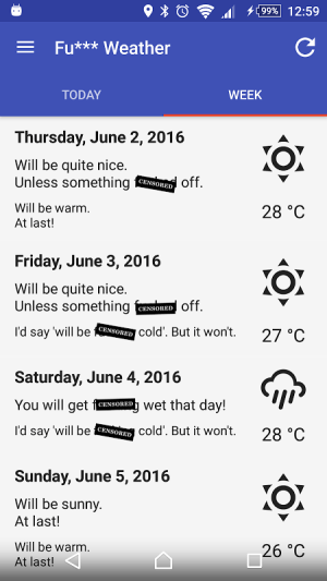 Fu*** Weather (Funny Weather) 5.2.2 (20170201 19:19)-release Screen 2