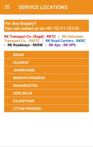 RK Transport 1.1 Screen 4