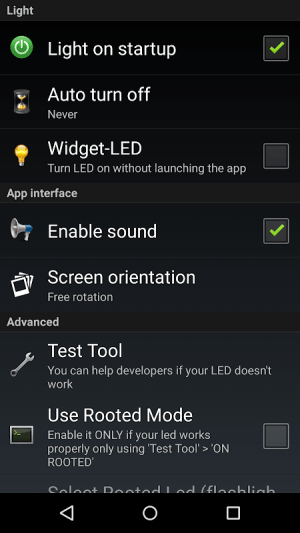 Torch Flashlight LED HD 2.01.21 (Google Play) Screen 5