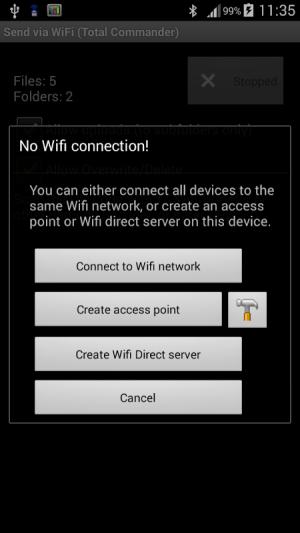 WiFi/WLAN Plugin for Totalcmd 3.2 Screen 1
