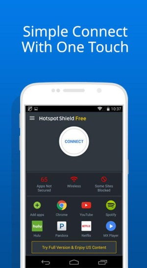 Hotspot Shield Basic - Free VPN Proxy & Privacy 5.8.1 Screen 1