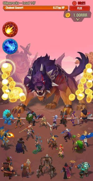 Android Idle game offline clicker: Juggernaut Champions Screen 6