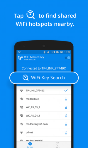Android WiFi Master Key - by wifi.com Screen 1