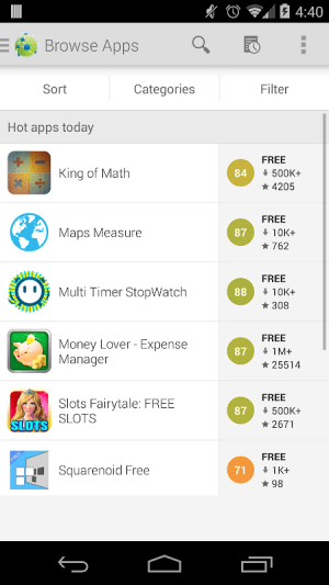 Android AppBrain App Store Screen 1