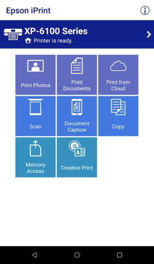 Epson iPrint 7.4.0 Screen 2