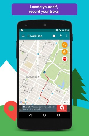 E-walk Free - Offline hiking & trekking 1.0.41 Screen 3