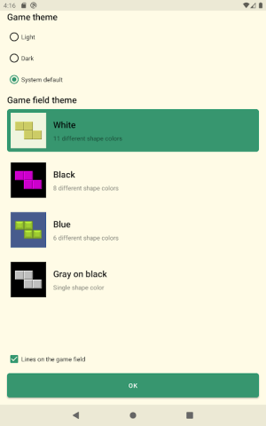 Android Brick Game Screen 10