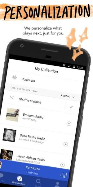 Android Pandora Music Screen 3
