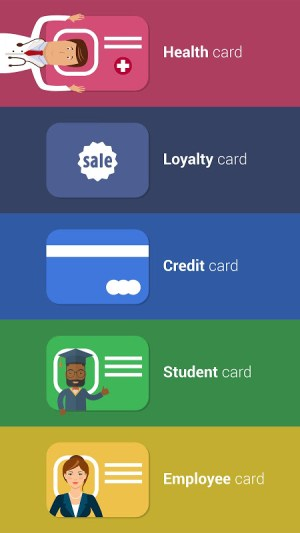Cards - Mobile Wallet 2.20 Screen 1