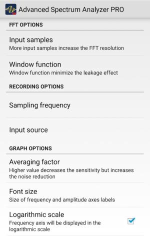 Advanced Spectrum Analyzer PRO 2.1 Screen 6