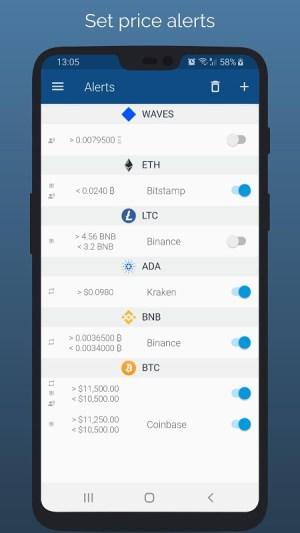 Crypto App - Widgets, Alerts, News, Bitcoin Prices 2.4.3 Screen 3
