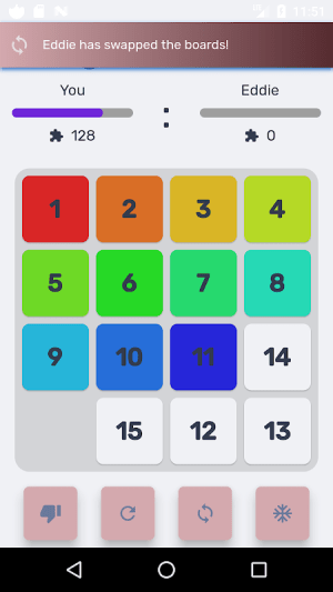 Android Puzzle 15 multiplayer Screen 6