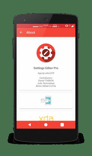 Settings Editor Pro 2.13.3 Screen 6
