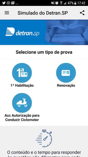 Simulado Detran-SP 2.8.6 Screen 1