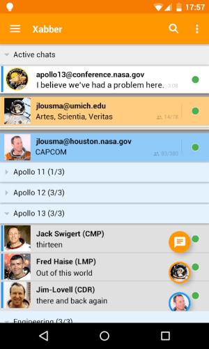 Xabber 2.6.6.645 Screen 1