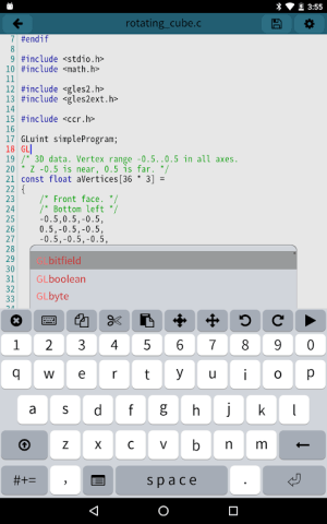 Android Mobile C [ C/C++ Compiler ] Screen 7