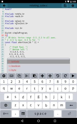Mobile C [ C/C++ Compiler ] 2.5.1 Screen 7