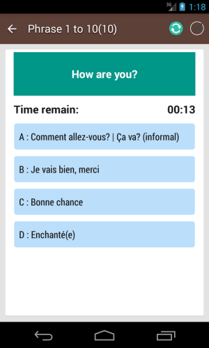 French Phrase book 3.0.0 Screen 7