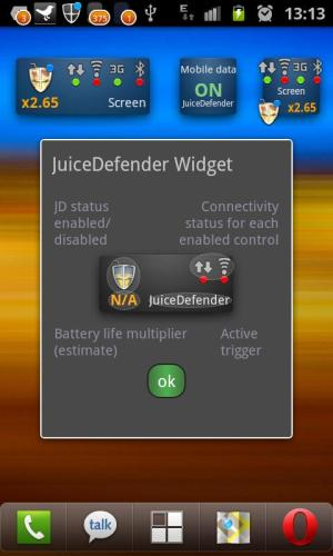 Android JuiceDefender Ultimate Screen 2