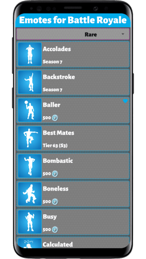 Emotes for Battle Royale 1.0.0.035 Screen 1