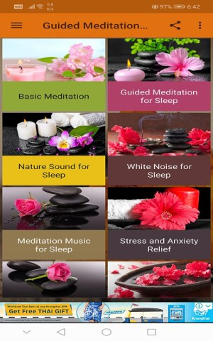 Android Guided Meditation Free App - Sleep & Relaxation Screen 6