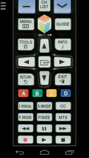 Samsung TV Remote Control (WiFi) 1.2.8-release Screen 1