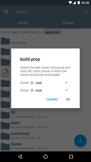 Root Explorer 4.1.3 Screen 5