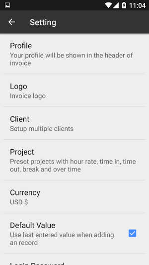Timesheet - Time Card - Work Hour - Invoice 1.7.0.2-inApp Screen 2