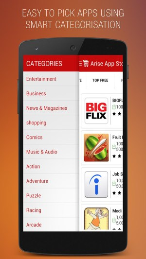 Android Arise App Store Screen 2