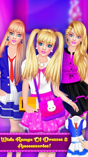 Android Fashion Doll - Back to School Dress Up Game Screen 13