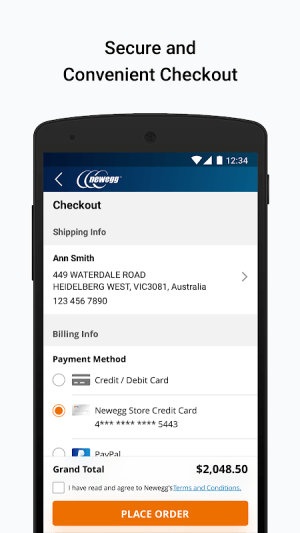 Newegg Mobile 5.8.0 Screen 1