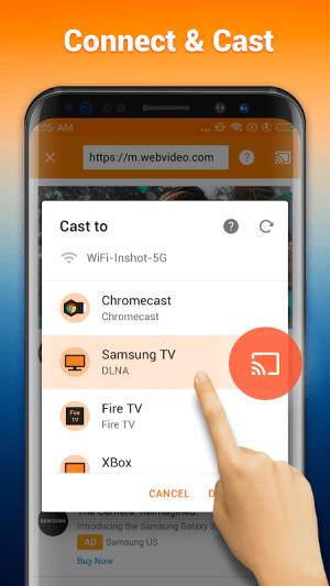 Cast to TV : Chromecast, Roku, FireTV, Xbox 1.3.1.2 Screen 2