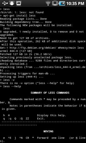 GNURoot 0.1.5 Screen 5